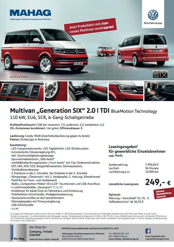 vw t6 leasing angebot gewerblich mahag. Black Bedroom Furniture Sets. Home Design Ideas