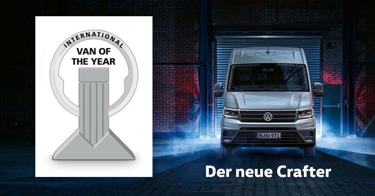 Der neue Crafter ist International Van of the Year 2017