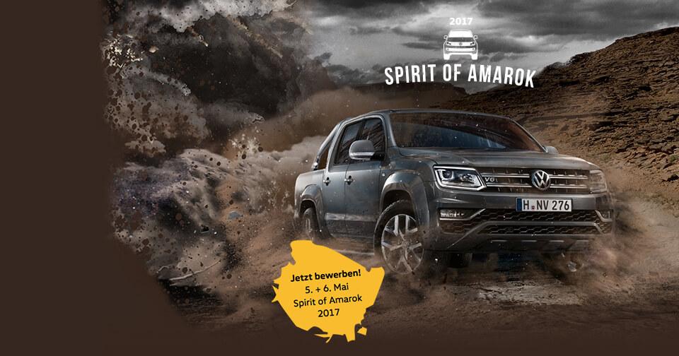 VW Spirit of Amarok 2017 Bewerbung