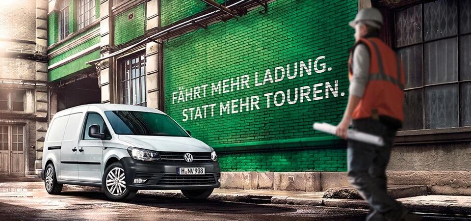 Volkswagen Caddy Kastenwagen in Candy-Weiß
