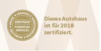 Volkswagen Finacial Service Zertifikat