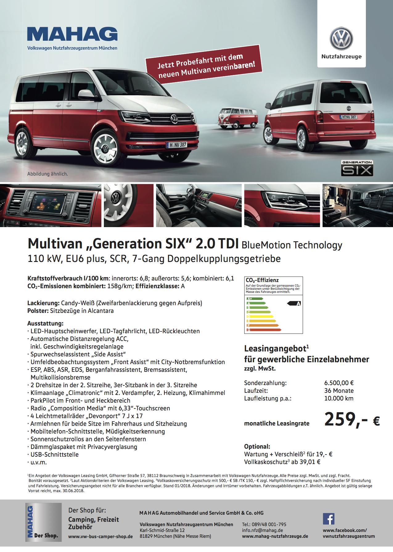 Volkswagen Multivan Leasing Angebot München Firmen