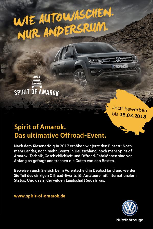 Spirit of Amarok 2018 Bewerbung München.