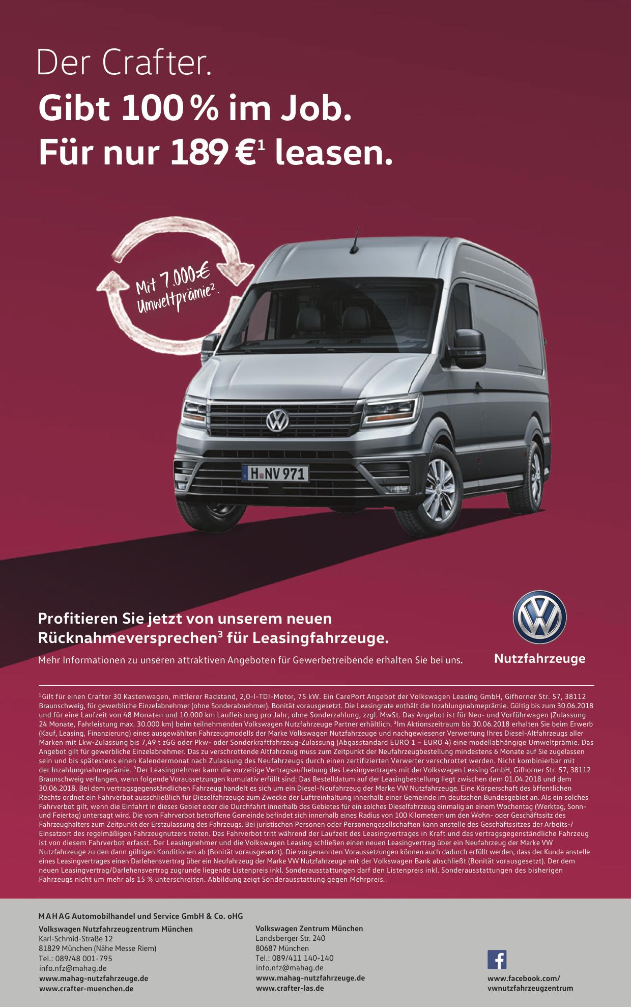 VW Crafter Leasing Angebot zum Download