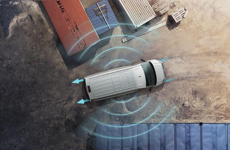 Volkswagen Crafter Fahrerassistenzsysteme - Sensorbasierter Flankenschutz