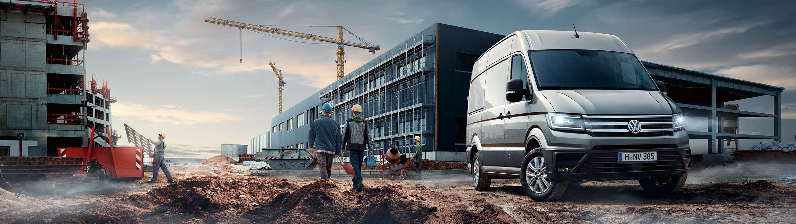 Volkswagen Crafter auf einer Baustelle