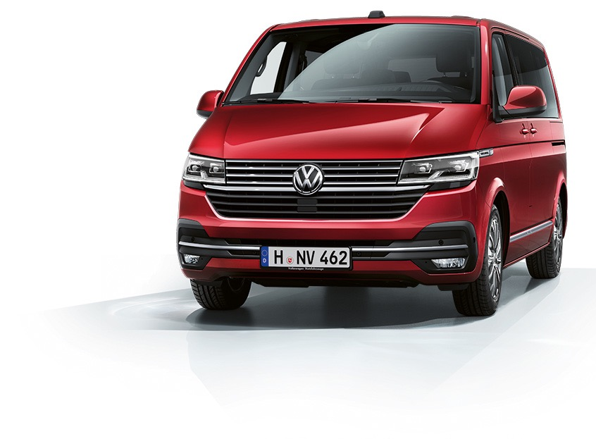 VW Multivan 6.1 Rot Frontaufnahme