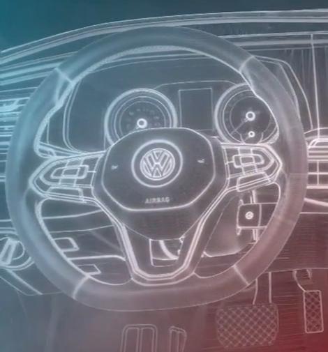 Volkswagen Transporter Lenkrad CAD Entwurf