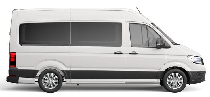 VW Crafter Combi in Weiss