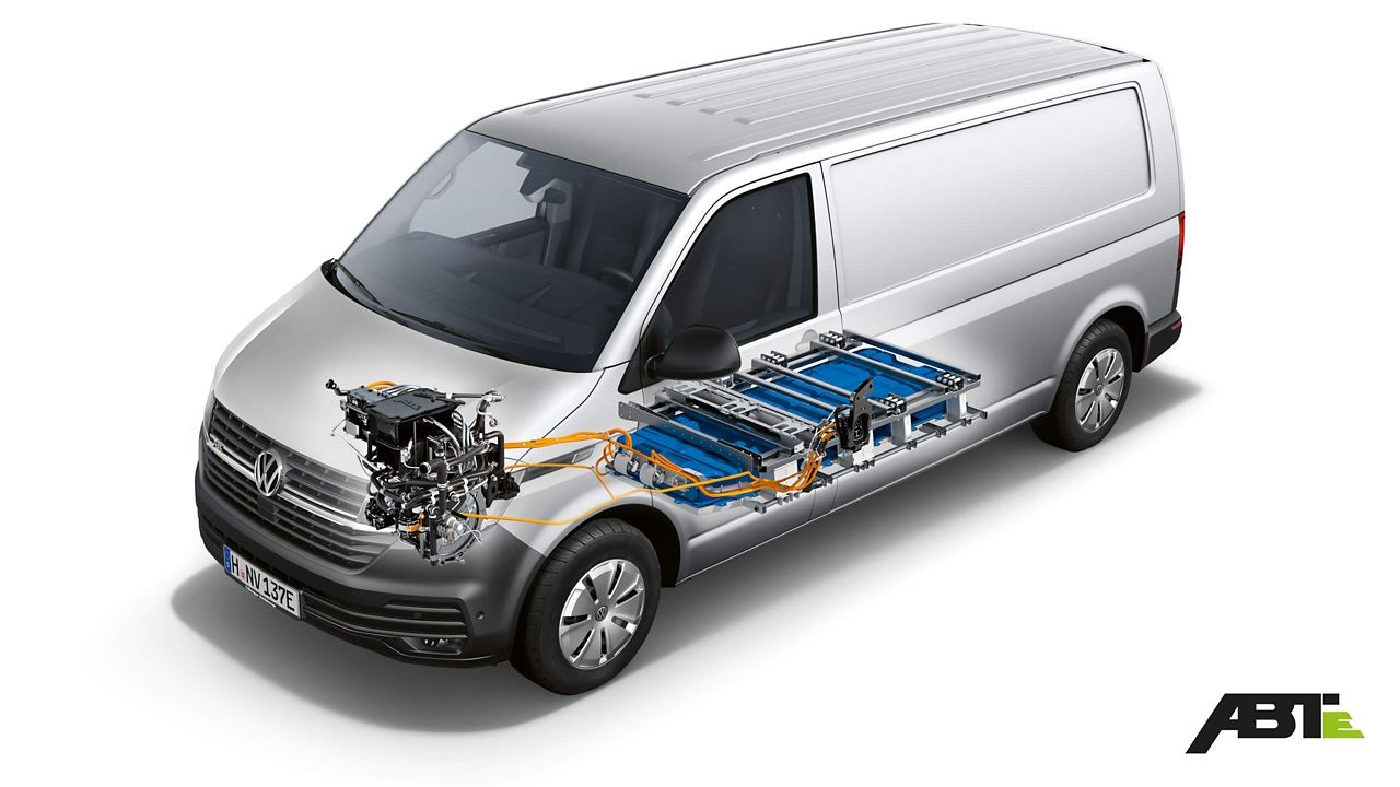 Volkswagen ABT e-Transporter technische Illustration